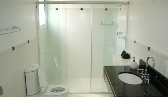 box de banheiro de abrir