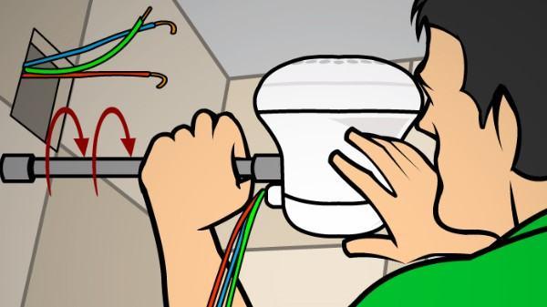 conectar chuveiro ao encanamento na parede